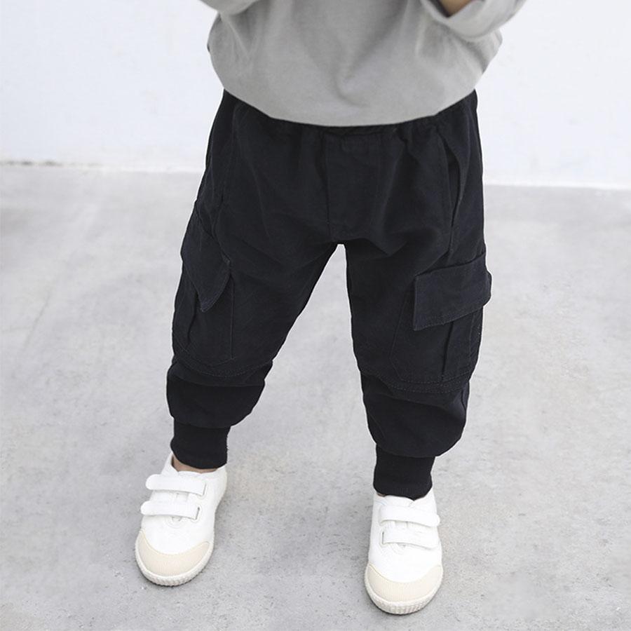 韓版休閒褲潮兒童工裝褲.童裝