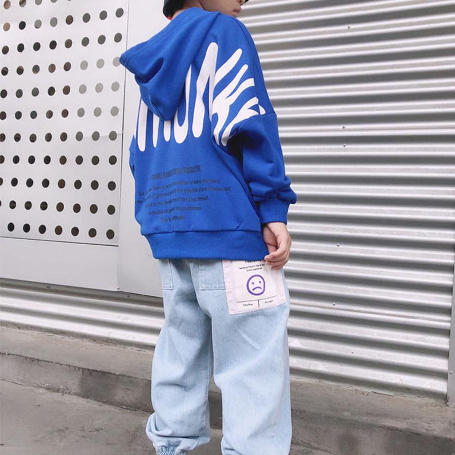 時尚表情選擇布標牛仔縮口褲.童裝,,,Y2010054,時尚表情選擇布標牛仔縮口褲.童裝,