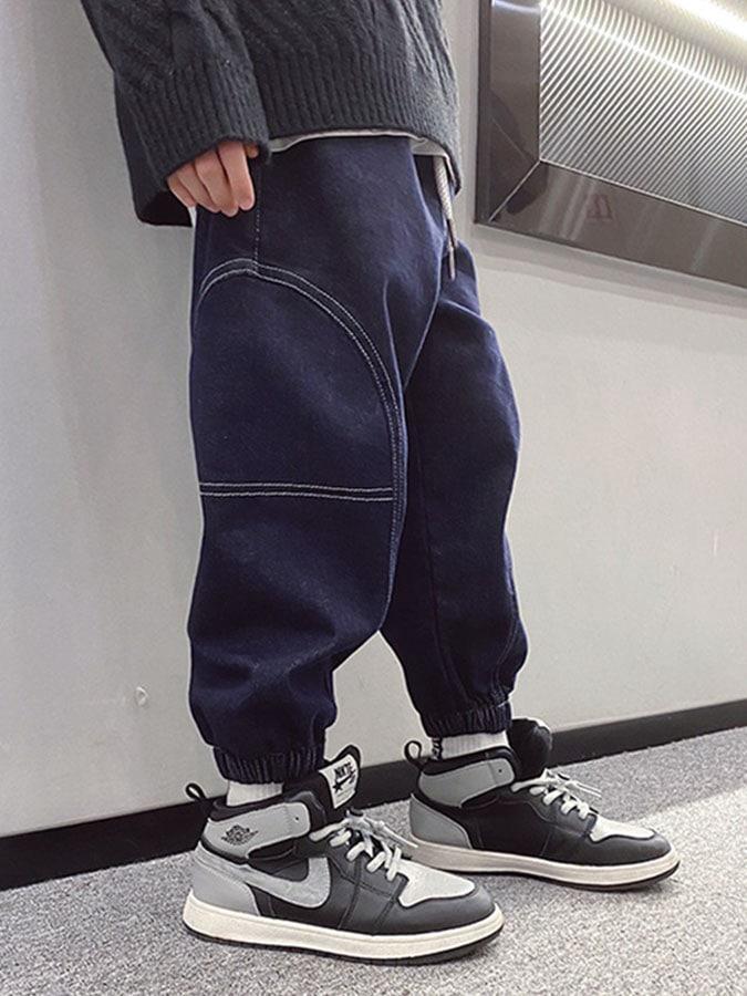 中大童.韓版寬鬆彈力兒童牛仔褲.童裝