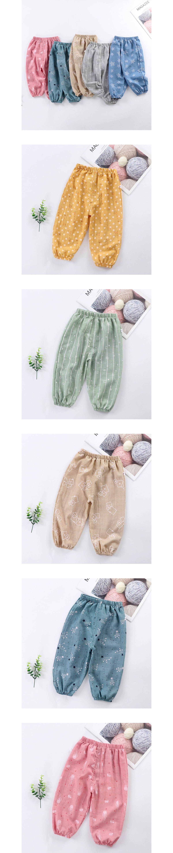 兒童滿版花紋哈倫寬鬆燈籠褲.童裝