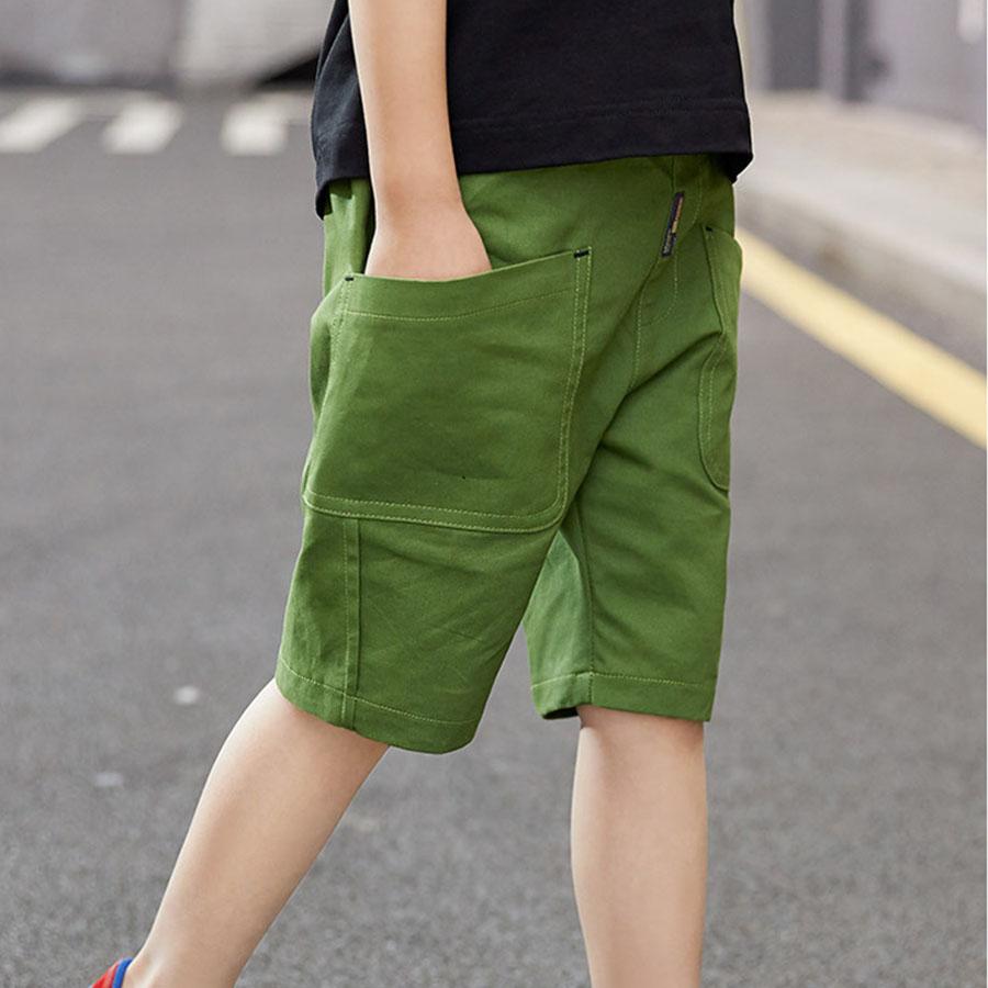 中大童韓版休閒口袋鬆緊素面短褲.童裝,,,Y2020028,中大童韓版休閒口袋鬆緊素面短褲.童裝,