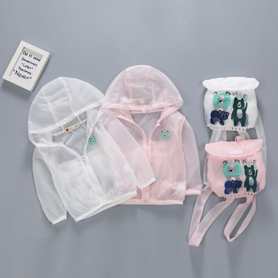 衣服變包包.輕薄透氣兒童防曬外套.童裝