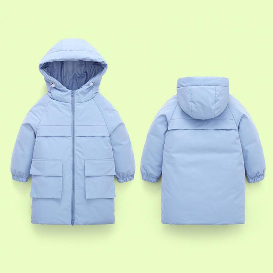 兒童韓系中長款加厚內鋪棉連帽外套,,,Y3020045,兒童韓系中長款加厚內鋪棉連帽外套,