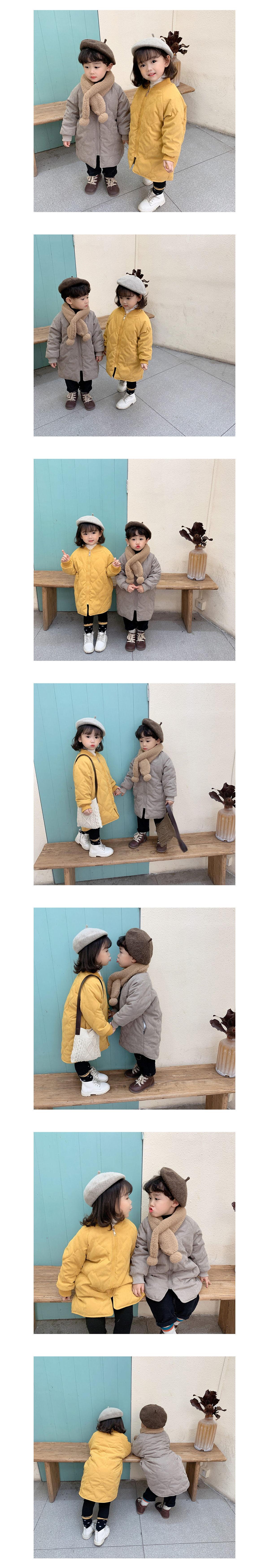 兒童加厚夾棉保暖棒球領長版外套.童裝