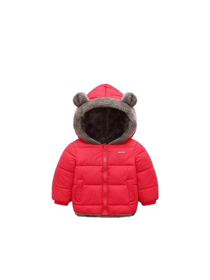 耳朵造型內刷羊羔絨保暖連帽外套.童裝