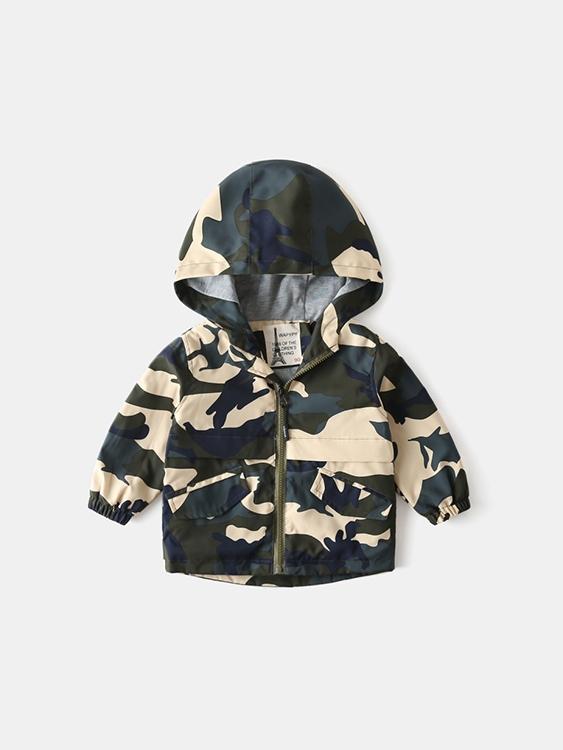 兒童防風迷彩多色衝鋒衣外套.童裝