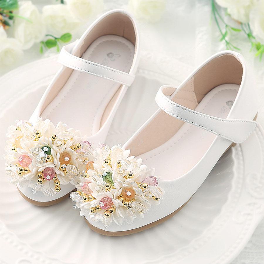 童鞋.防滑軟底淺口花卉公主鞋.童裝