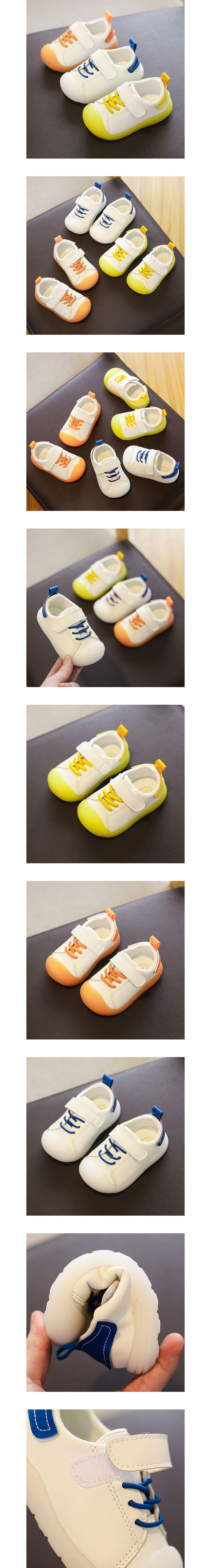童鞋.護頭軟底休閒皮革小白鞋.童裝