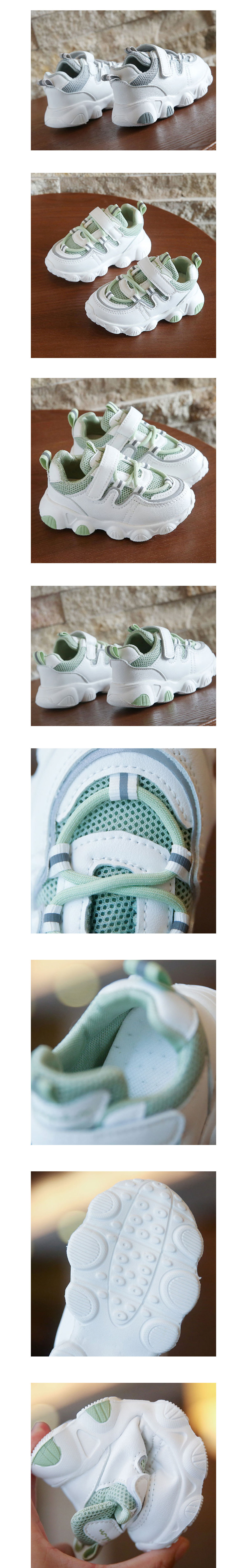 童鞋.透氣白底拼接老爹鞋.童裝