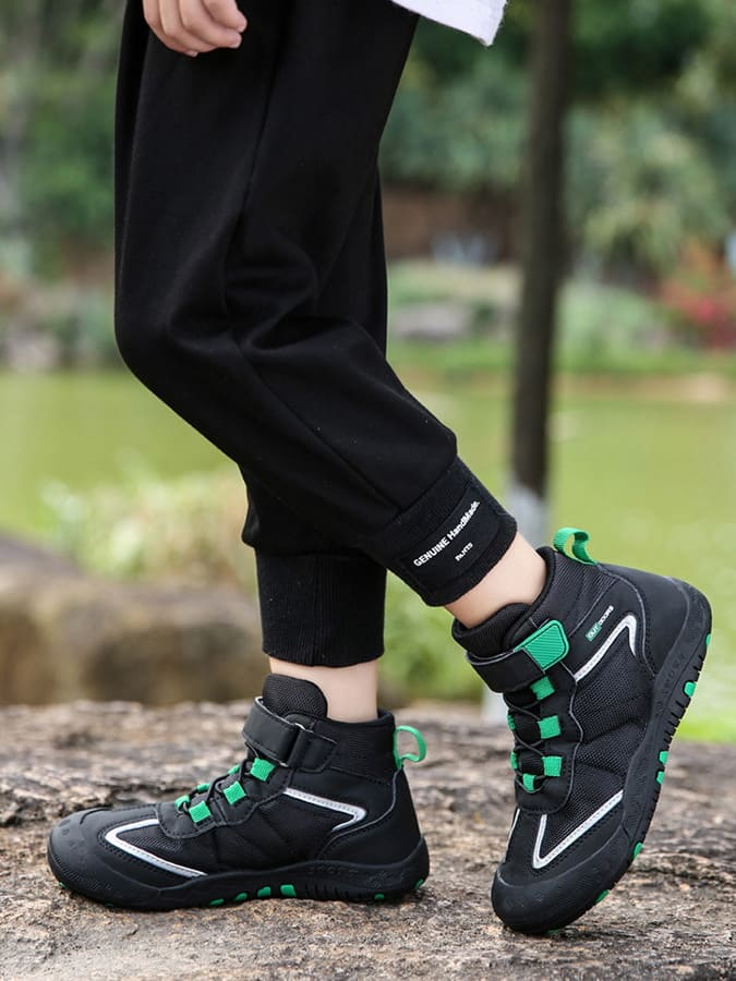 童鞋.兒童撞色戶外高筒防滑運動鞋.童裝