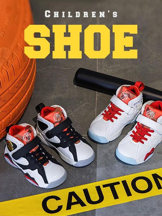童鞋.柔軟透氣高筒運動籃球鞋.童裝
