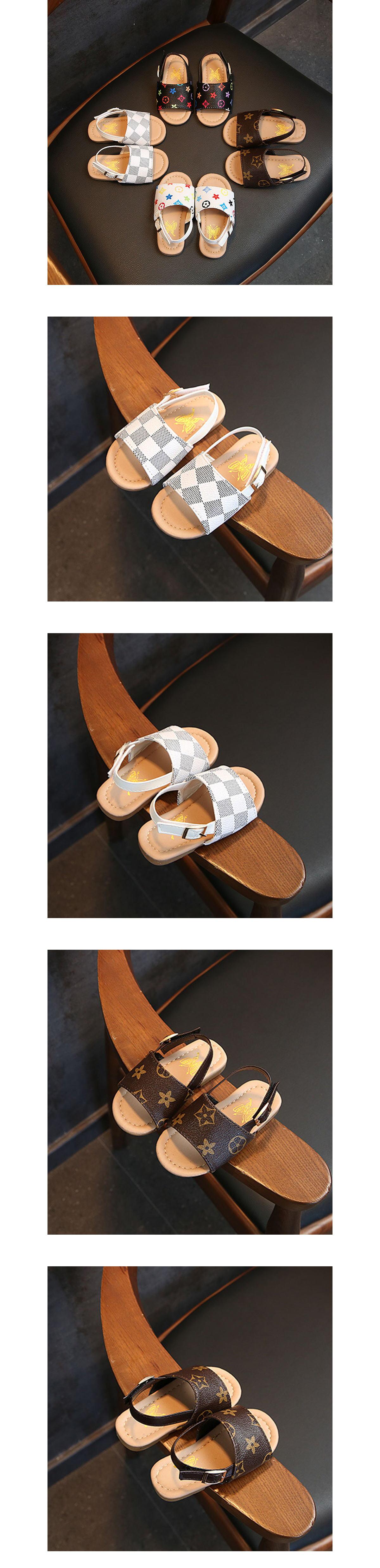 童鞋.防滑軟底滿版印花沙灘涼鞋.童裝