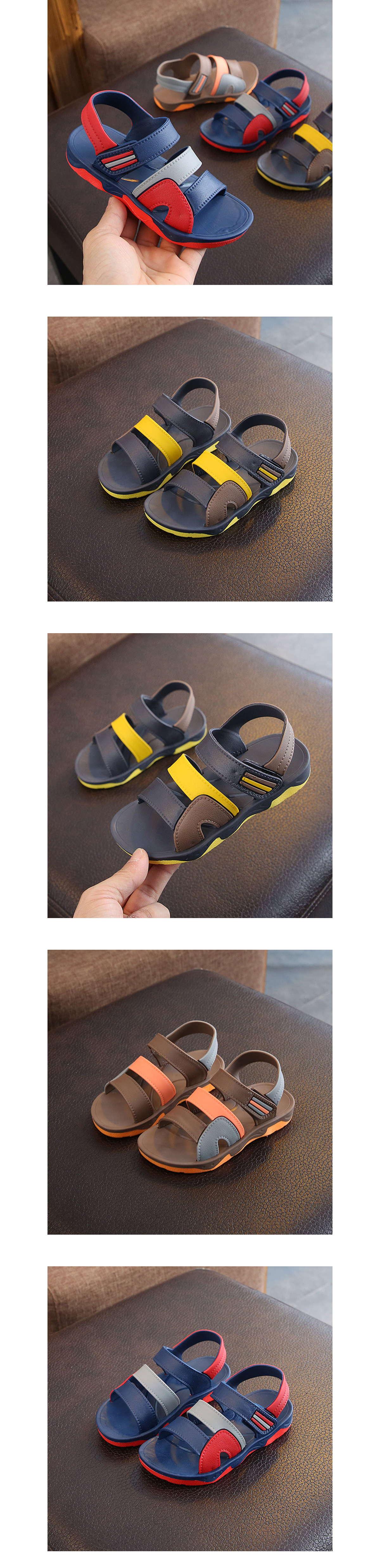 童鞋.中大童拼接防水沙灘涼鞋.童裝