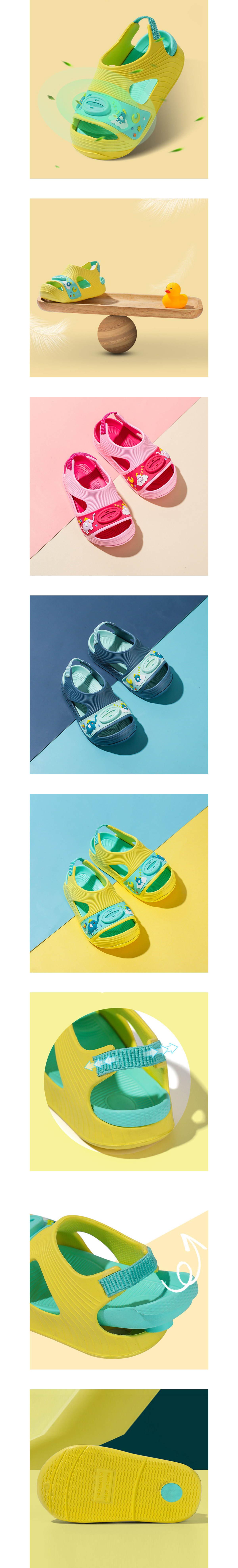童鞋.嬰幼兒防滑包頭兒童涼鞋.童裝